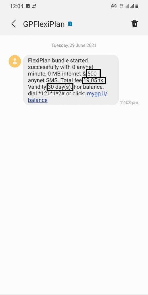 500 sms buying successful sms